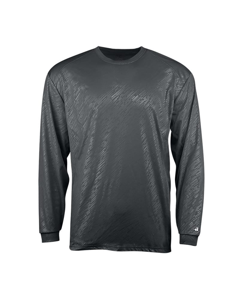 Badger BG2145 - Youth Line Embossed Long Sleeve Tee