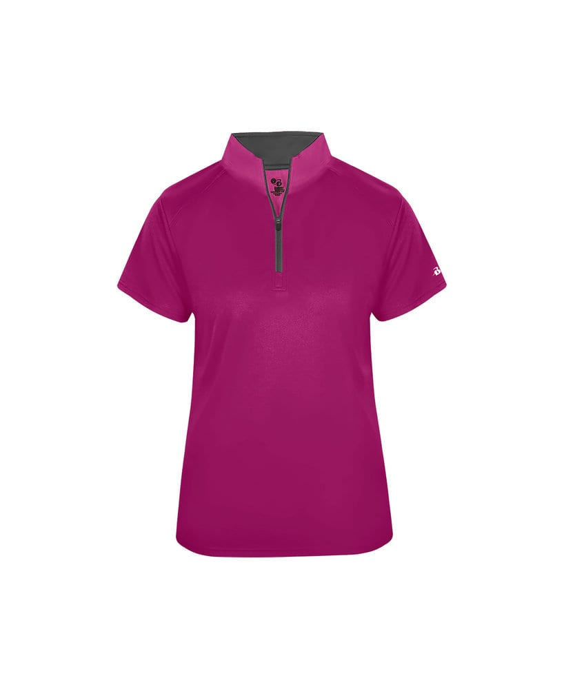 Badger BG4137 - Women's B-Core Short Sleeve 1/4 Zip