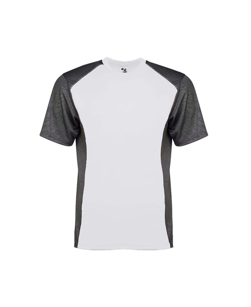 Badger BG4158 - Adult Line Embossed Colorblock Tee