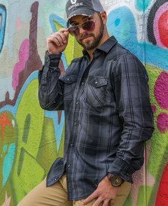 Burnside BN8206 - Adult Long Sleeve Western Plaid Shirt