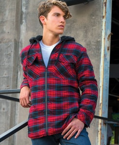 Burnside BN8620 - Adult Hooded Flannel Jacket