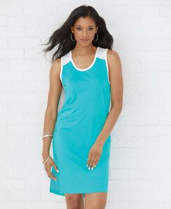 LAT LA3523 - LAT Ladies Racerback Fine Jersey Tank Dress