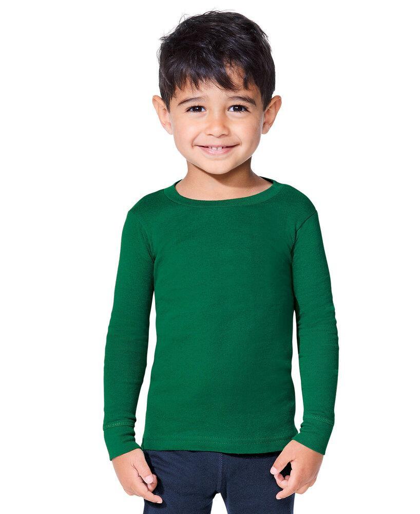 Rabbit Skins LA201Z - Toddler Long Sleeve Baby Rib Pajama Top