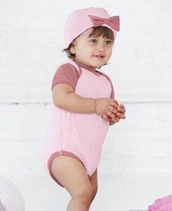 Rabbit Skins LA4453 - Infant Baby Rib Bow Cap