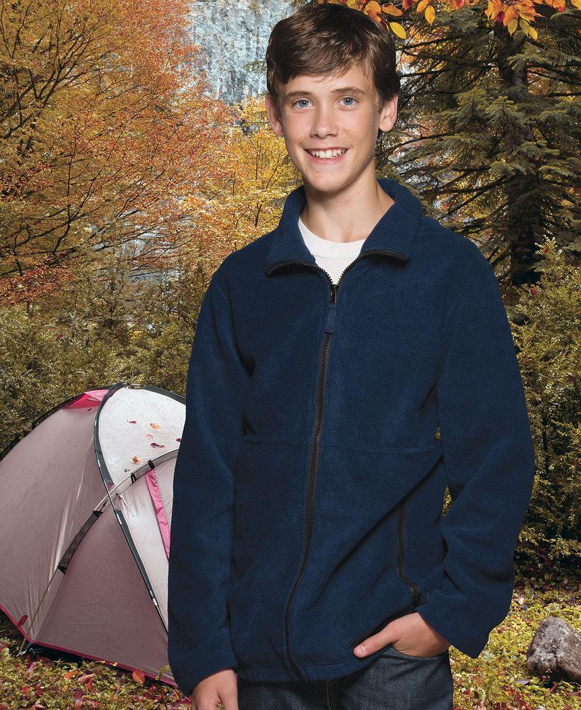 Sierra Pacific SP4061 - Sierra Pacific Youth Full Zip Fleece