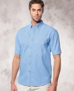 Sierra Pacific SP6211 - Sierra Pacific Mens Tall Short Sleeve Cotton Denim Shirt