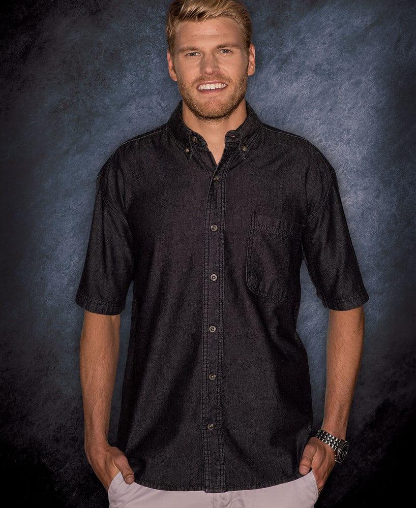 Sierra Pacific SP7211 - Sierra Pacific Mens Tall Long Sleeve Cotton Denim Shirt