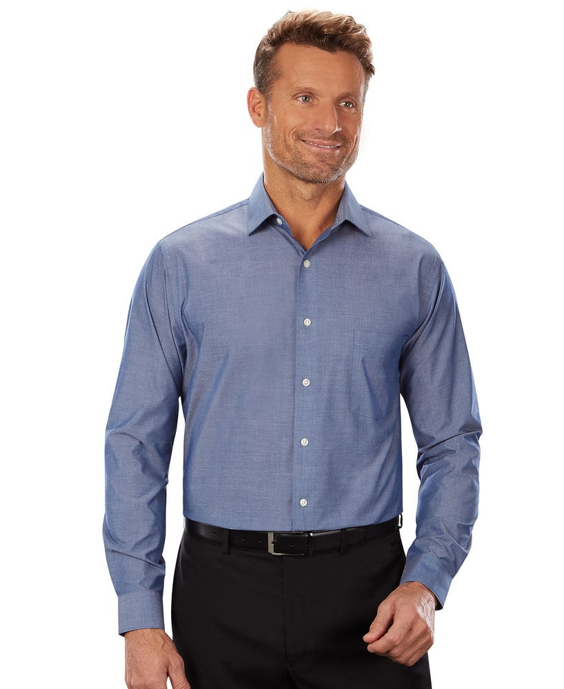 VanHeusen 13V0465 - Men's Chambray Long Sleeve