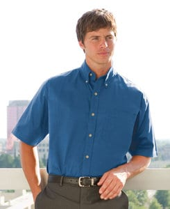 Whispering Pines WP0623 - JonathanCorey Mens Short Sleeve Performance Brushed Twill