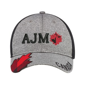 AJM 4H337M - Polyester Heather / Soft Nylon Mesh 6 Panel Constructed Full-Fit (Canada, Mesh Back)