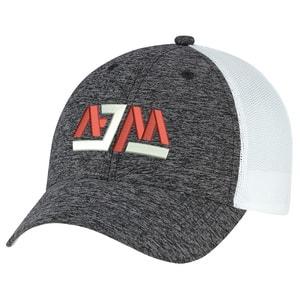 AJM 5H647M - Polyester Marl / Soft Nylon Mesh 6 Panel Constructed Full-Fit (Mesh Back)