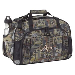 "AJM B9000 - SAC SPORTIF CAMOUFLAGE ""OILFIELD®"" Canevas Polyester 600D Enduit de PVC / Canevas Polyester 420D"