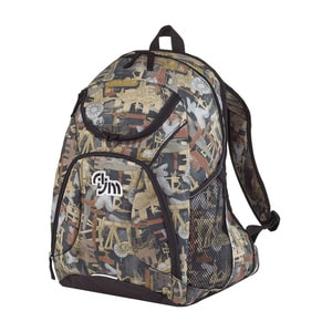 AJM B9050 - OILFIELD® CAMOUFLAGE BACKPACK PVC Coated 600D Polyester Canvas / 420D Polyester Canvas