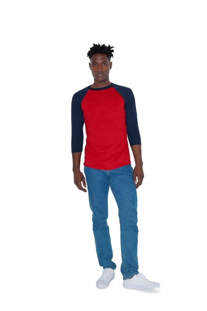 American Apparel AMBB453 - T-shirt Manches Raglan 3/4