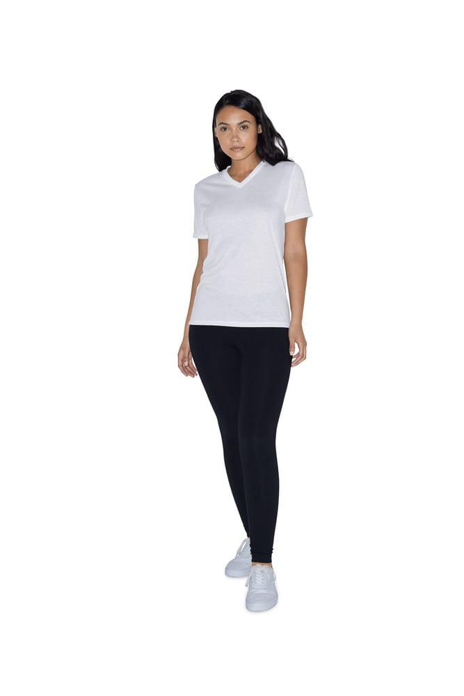 American Apparel AMPL356 - T-shirt Sublimation Col V pour Femme