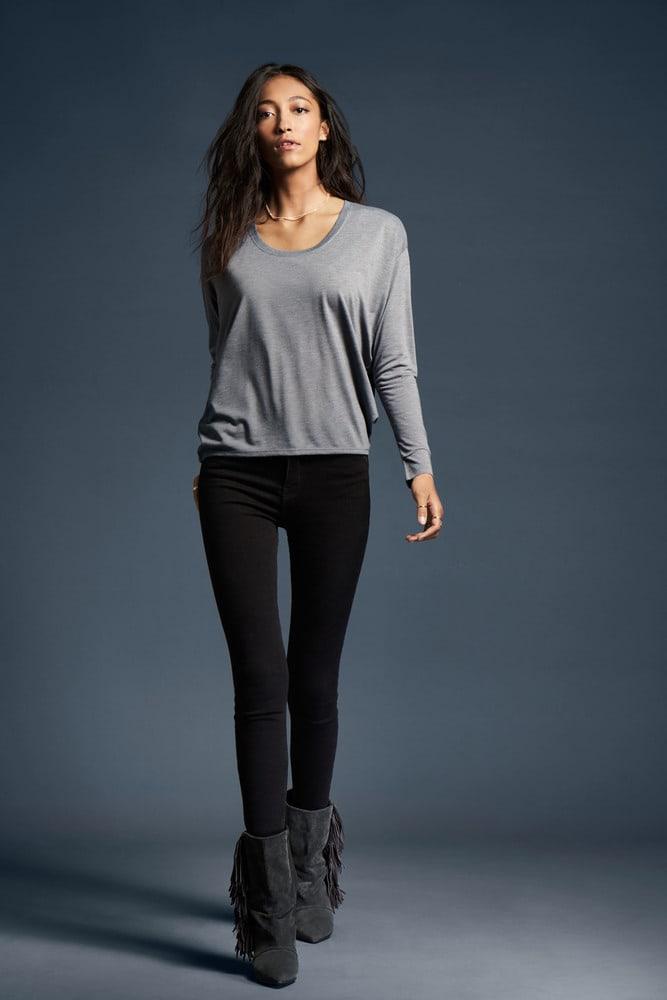 Anvil ANV34PVL - T-shirt Manches Longues pour Femme