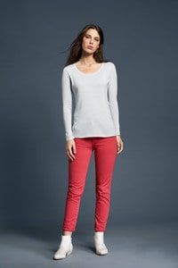 Anvil ANV399 - Women`s Sheer LS Scoop Tee