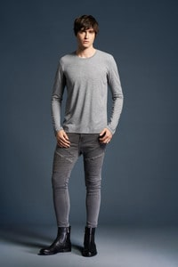Anvil ANV6740 - T-shirt Triblend LS dla niego