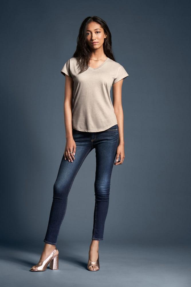 Anvil ANV6750VL - T-shirt Femme Col V Manches Courtes