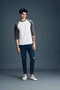 Anvil ANV6755 - T-shirt Homme Manches Raglan 3/4