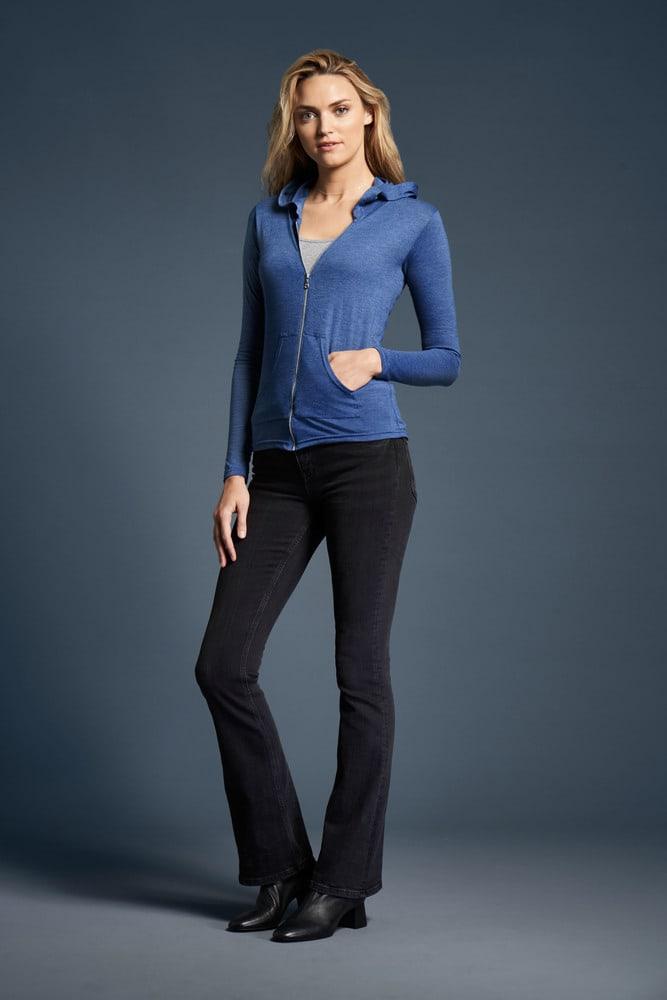 Anvil ANV6759L - Damen Tri-Blend Full-Zip Hooded Jacket