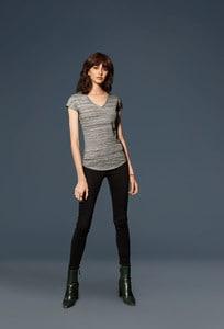 Anvil ANV675VIDL - T-shirt Col V Femme