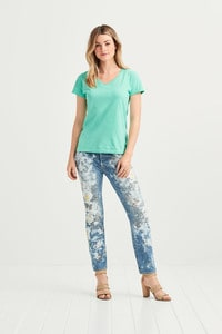 Comfort Colors COM3199 - T-shirt Midweight V-hals SS voor haar.