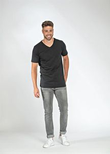 Lemon & Soda LEM1135 - T-shirt V-neck fine cotton elasthan