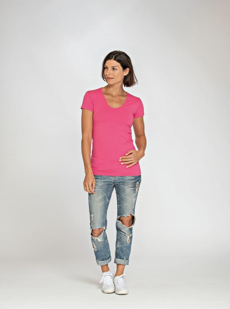 Lemon & Soda LEM1262 - T-shirt Col V SS Femme