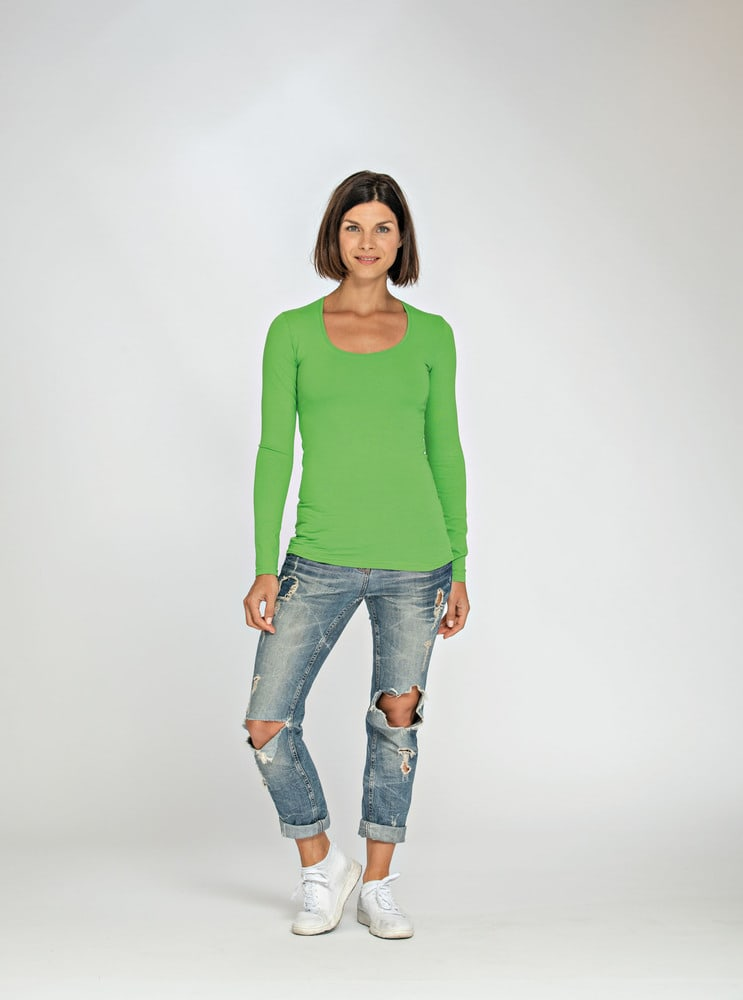 Lemon & Soda LEM1267 - T-shirt Col Rond LS Femme