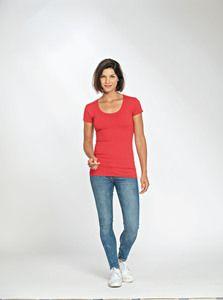 Lemon & Soda LEM1268 - T-shirt Crewneck cot/elast SS for her