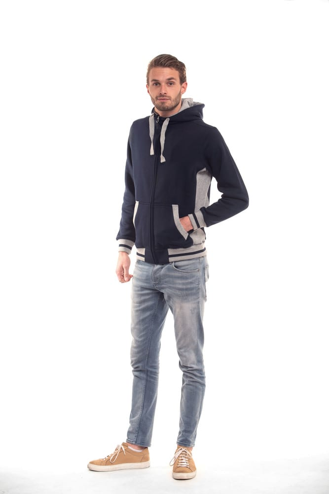Lemon & Soda LEM3225 - Sweat Cardigan Lourd à Capuche Homme