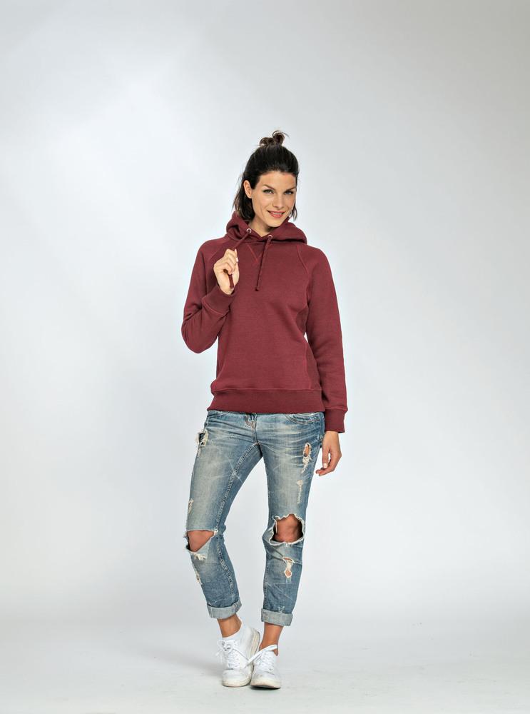 Lemon & Soda LEM3232 - Heavy Sweater Hooded Raglan for her