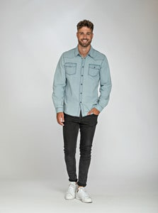 Lemon & Soda LEM3960 - Denim Shirt LS für ihn