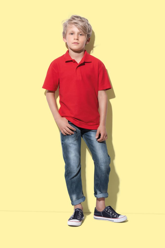 polo con manga corta para niños stedman