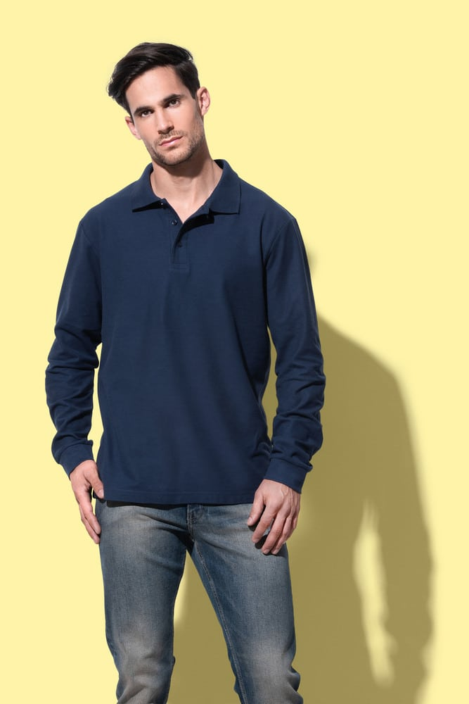 Long sleeve Polo for men Stedman