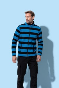 Stedman STE5090 - Polar Fleece Cardigan Striped for him