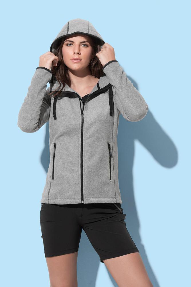 Power Fleece Cardigan Hooded for women Stedman