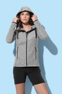 Stedman STE5120 - Power Fleece Cardigan Hooded Activ for her