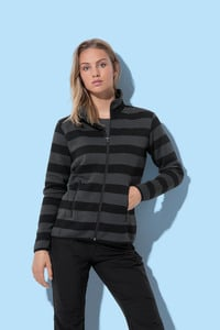 Stedman STE5190 - Polar Fleece Cardigan Striped for her