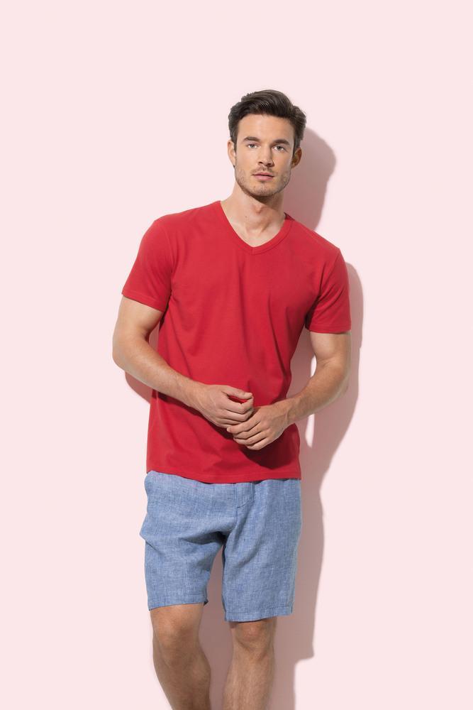 Tee-shirt col V pour hommes Stedman