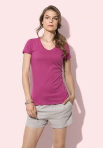 Stedman STE9130 - T-shirt con collo a V da donna MEGAN