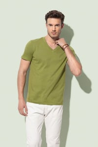 Stedman STE9210 - T-shirt con collo a V da uomo ORGANIC JAMES