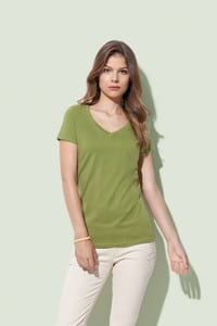 Stedman STE9310 - T-shirt V-neck Organic Janet SS for her