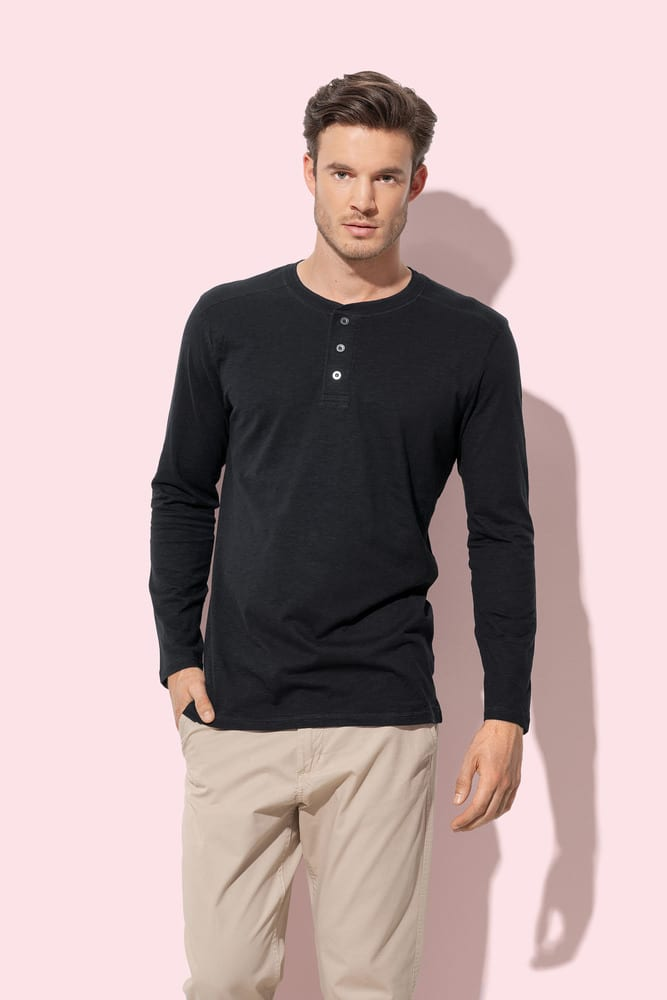 Long sleeve with buttons for men Stedman