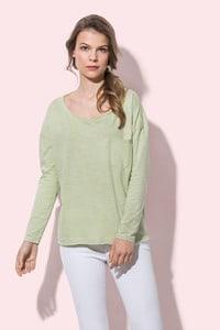 Stedman STE9560 - Oversized Fashion Langarm-Shirt für Damen Sharon