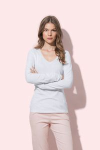 Stedman STE9720 - T-shirt V-neck Claire LS for her