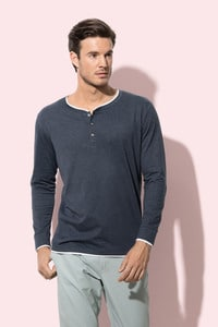 Stedman STE9860 - T-shirt Henley Luke LS for him