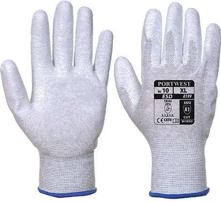 Portwest A199 - Antistatic PU Palm Glove