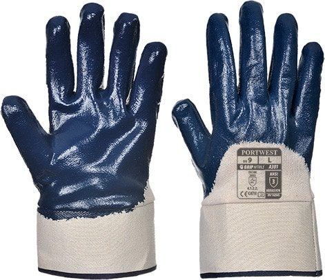 Portwest A301 - Nitrile Safety Cuff Glove